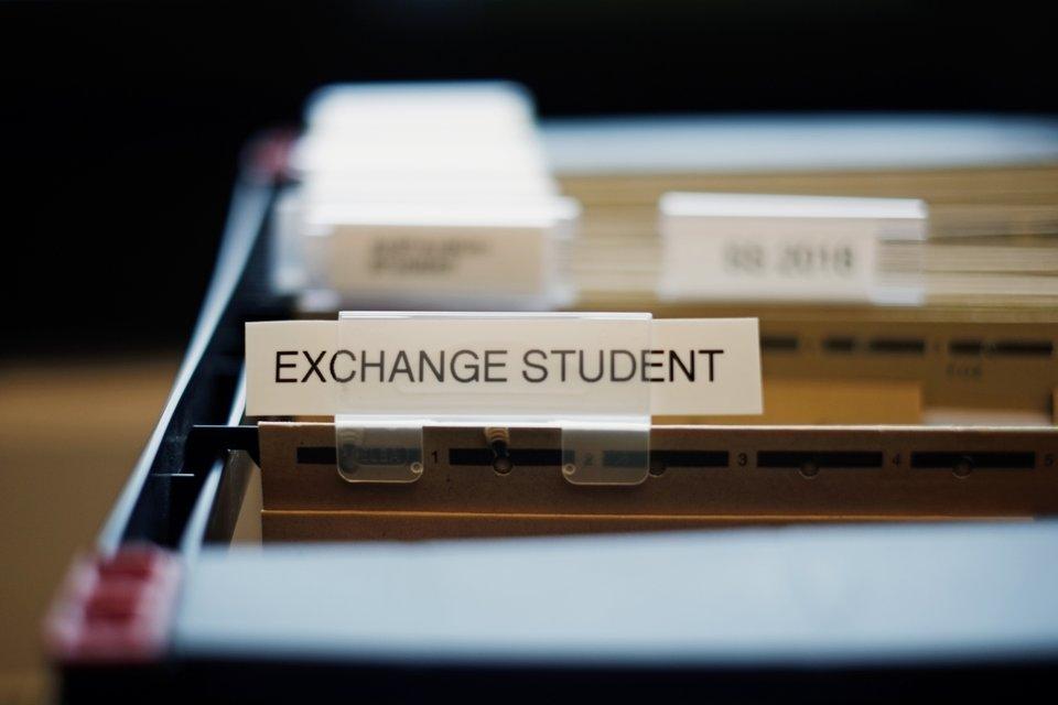 Akten von Austauschtstudierenden