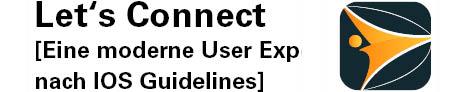 Das Logo des Softwareprojektes Let's Connect, eine moderne User Exp nach IOS Guidelines. Das Logo besteht aus einem Dreieck mit nach innen gerundeten Kanten und einem kleinen Kreis an einem der Bögen der linken Seite des Dreiecks.