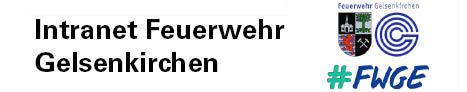 Das Logo des Softwareprojektes Intranet Feuerwehr Gelsenkirchen. Das Logo besteht aus dem Stadtwappen und dem Logo der Stadt Gelsenkirchen.