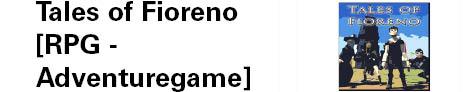 Das Logo des Softwareprojektes  Tales of Fioreno, Adventure Game. Das Logo zeigt das Cover des Spiels, bei dem vier Charaktere aus dem Spiel abgebildet sind.