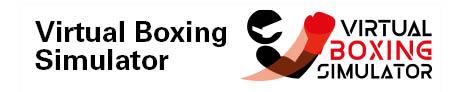 Das Logo des Softwareprojektes Virtual Boxing Simulator. Das Logo besteht aus einer abstrakten Profilansicht eines Boxers und dem Schriftzug des Projektnamens rechts daneben.