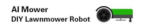 Das Logo des Softwareprojektes AI Mower. Das Logo besteht aus einem Traktor.