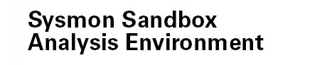Ein Schriftzug mit dem Namen des Softwareprojektes Sysmon Sandbox Analysis Environment.
