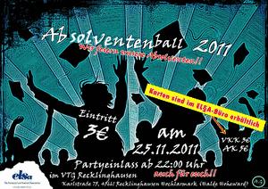 Plakat des Absolventenball 2011