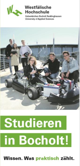 Titelblatt eines Übersichts-Flyers für Bocholt.