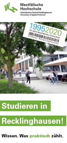 Titelblatt eines Übersichts-Flyers für Recklinghausen.
