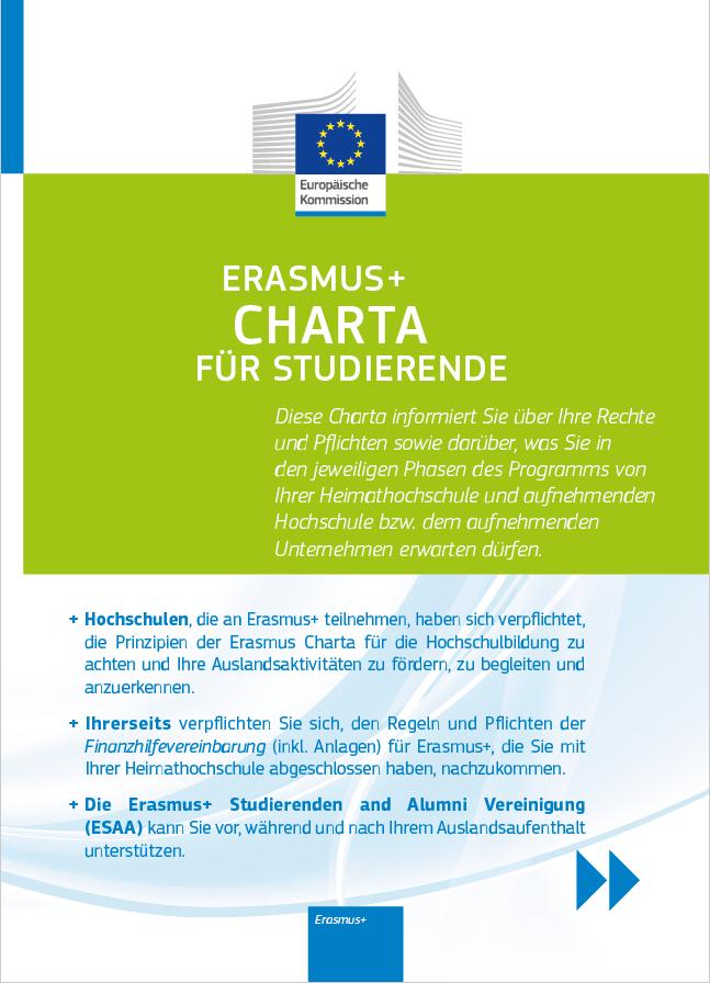 Dokument Studierenden Charta Erasmus+